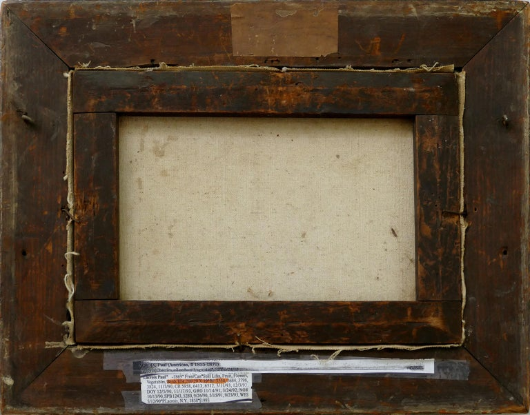 Paul LaCroix Fruit Still-Life Oil Painting on Canvas, 1865 in Original Frame For Sale 3