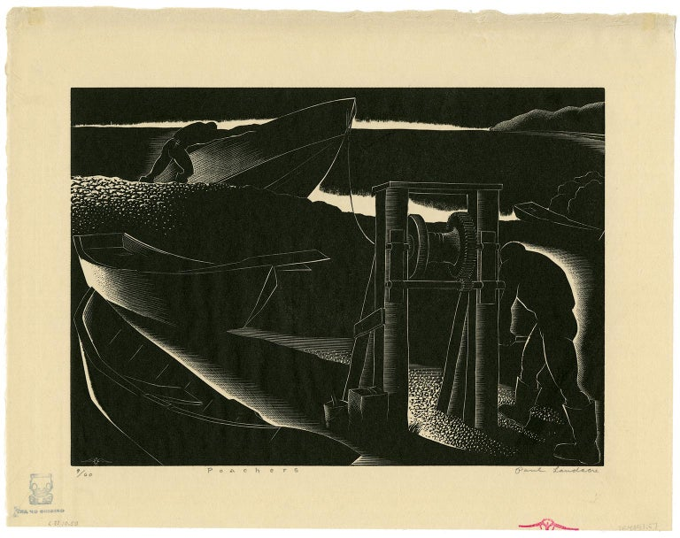 Poachers - Print by Paul Landacre