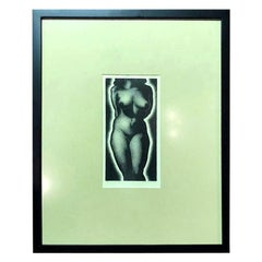 "Paul Landacre Signed Limited Edition Mid-Century Modern Wood Engraving ""Anna"""