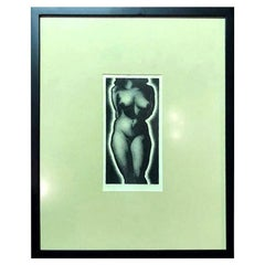 """Paul Landacre Signed Limited Edition Mid-Century Modern Wood Engraving """"Anna"""""""