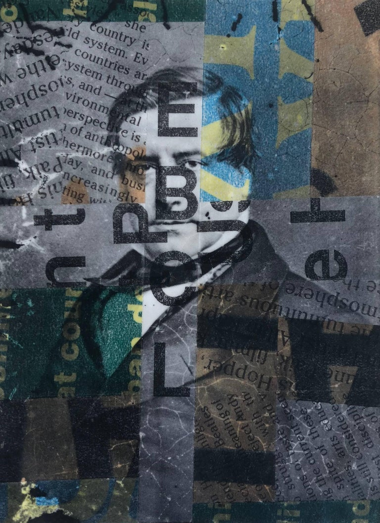 End of Softness, Transparent Tape and Print Media on Paper, 1990 - Mixed Media Art by Paul Laster