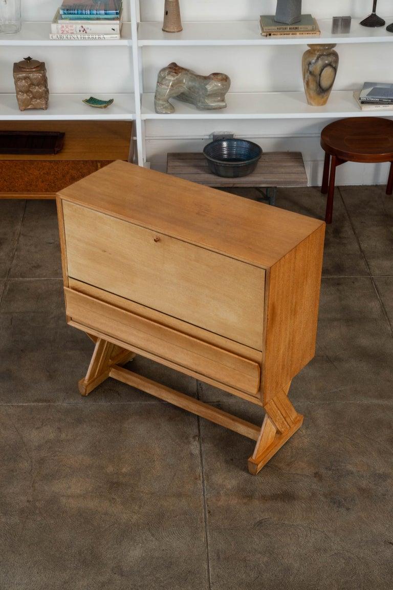 Mid-Century Modern Paul Laszlo Liquor Cabinet for Brown Saltman For Sale