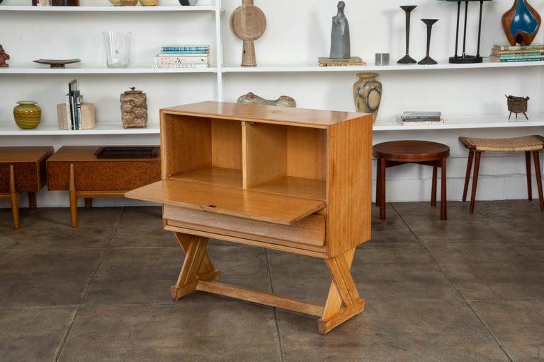 American Paul Laszlo Liquor Cabinet for Brown Saltman For Sale