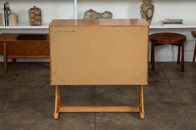 Mahogany Paul Laszlo Liquor Cabinet for Brown Saltman For Sale