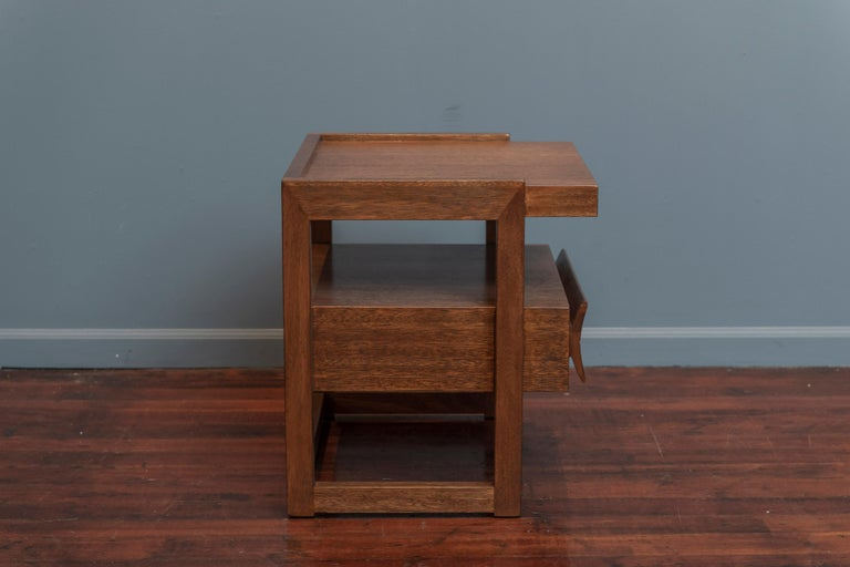 Mahogany Paul Laszlo End Table for Brown Saltman For Sale