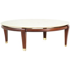 Paul Laszlo Floating Marble Top Coffee Table for Brown Saltman