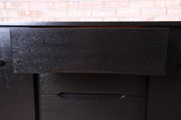 Paul Laszlo for Brown Saltman Ebonized Dresser or Credenza, Newly Refinished For Sale 4