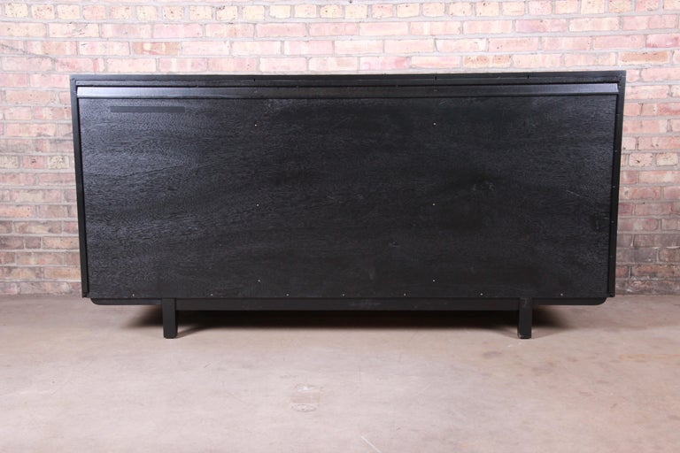 Paul Laszlo for Brown Saltman Ebonized Dresser or Credenza, Newly Refinished For Sale 12