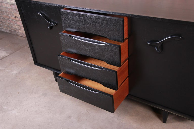 Paul Laszlo for Brown Saltman Ebonized Dresser or Credenza, Newly Refinished For Sale 2