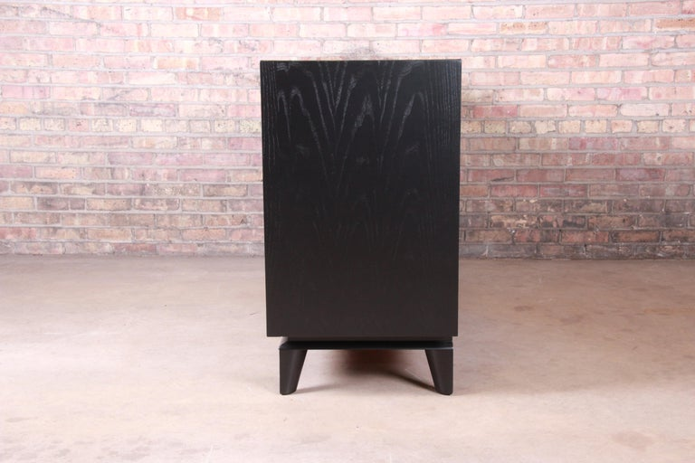 Paul Laszlo for Brown Saltman Ebonized Sideboard Credenza, Newly Refinished For Sale 5