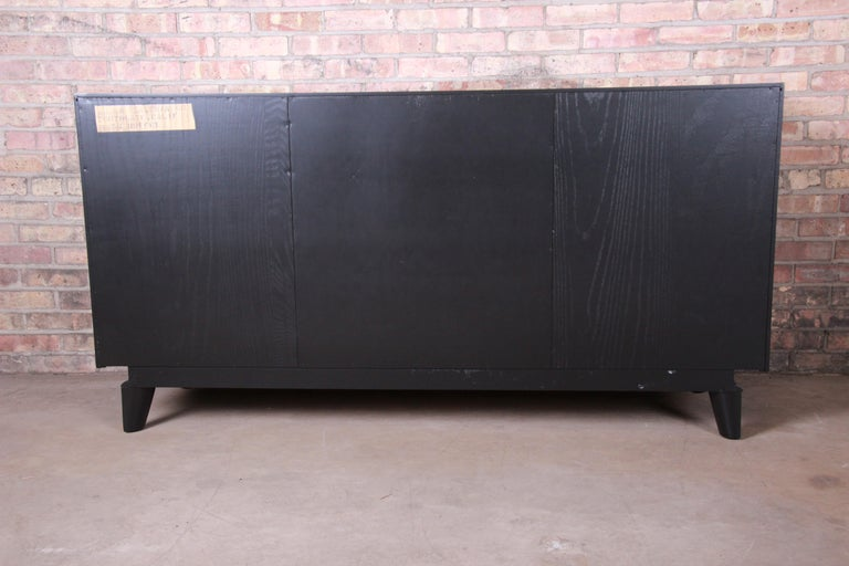 Paul Laszlo for Brown Saltman Ebonized Sideboard Credenza, Newly Refinished For Sale 7