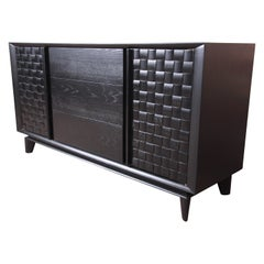 Paul Laszlo for Brown Saltman Ebonized Sideboard Credenza, Newly Refinished