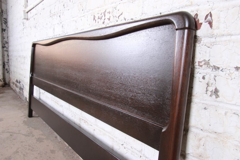American Paul Laszlo for Brown Saltman Mahogany King Size Headboard, Newly Refinished For Sale
