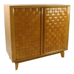 Paul Laszlo for Brown Saltman Weave Pattern Cabinet