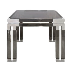 Paul Lazlo Chic Side Table in Smoke Lucite and Chrome, 1983