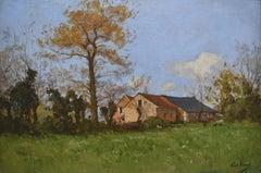 Paul Lecomte (1842-1920) La Ferme du Pré, Oil on canvas