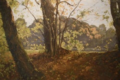 Paul Lecomte (1842-1920) Wooded Landscape, Oil on canvas