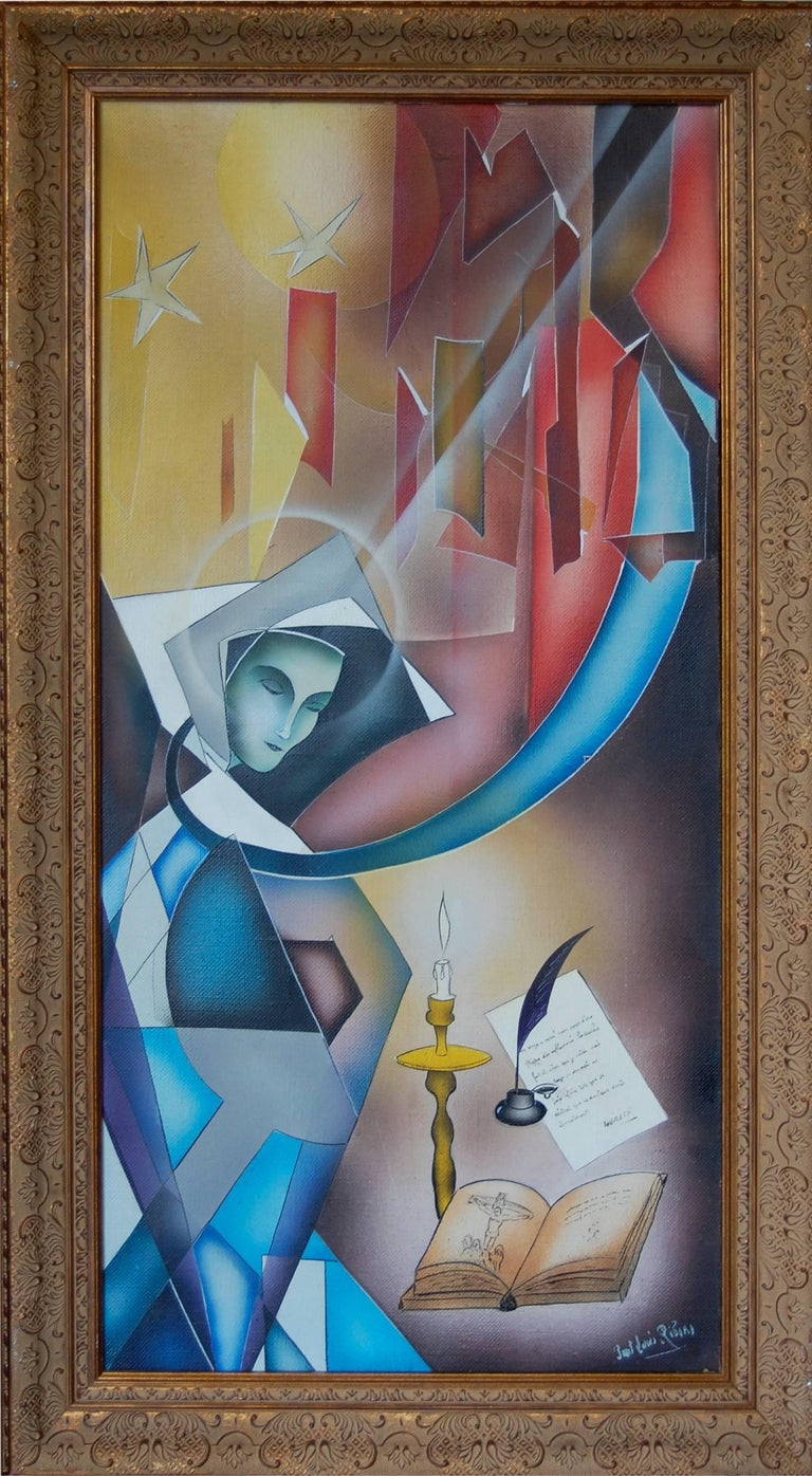 The Ecstasy of St Therese of Avila ; Paul - Louis Rebora; French 20th c; - Painting by Paul-Louis Rebora