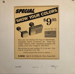 Pop Art 1970s Vintage Silkscreen Screen Print Manner of Andy Warhol