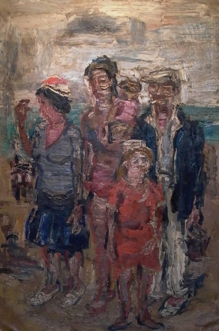 Paul Maas Figurative Painting - Les Vacances