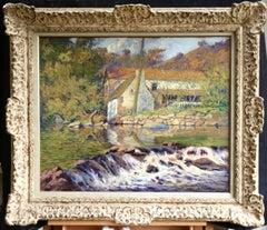 Le Moulin de la Folie a Crozant - Impressionist Oil, Landscape by Paul Madeline