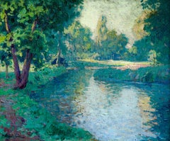 The Creuse Valley - Post Impressionist Oil, River in Landscape by Paul Madeline