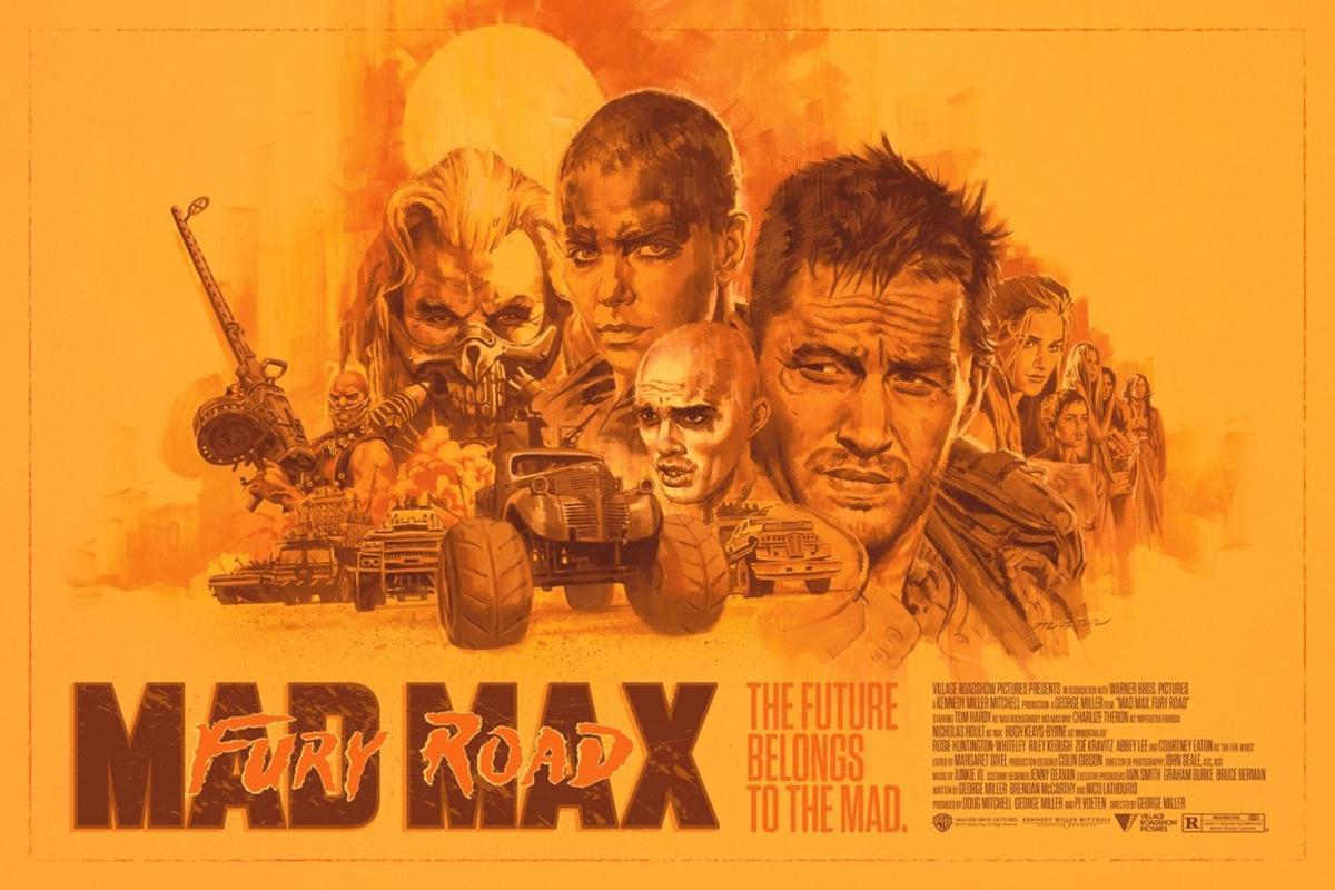 Paul Mann - Mad Max: Fury Road Artist Ed.- Contemporary Cinema Movie Film Poster