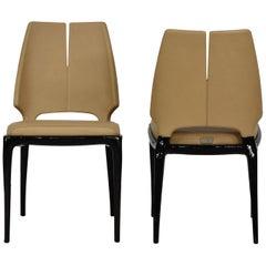 Paul Mathieu x Luxury Living Contour Chair Set of 2 Blonde