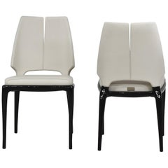 Paul Mathieu X Luxury Living Contour Chair Set of 2 Cream