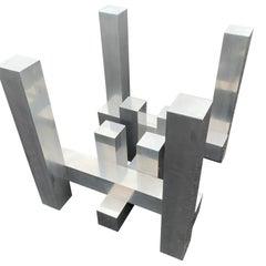 Paul Mayen Aluminium Geometric Skyscraper Dining Table Base For Habitat