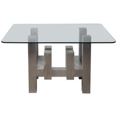 Paul Mayen Cityscape for Habitat Aluminum Geometric Based Dining Table
