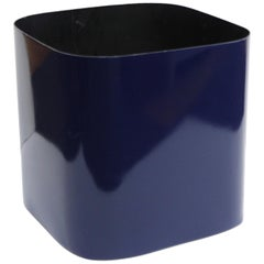 Paul Mayen For Habitat Modern Lacquered Metal Planter With Rounded Edges