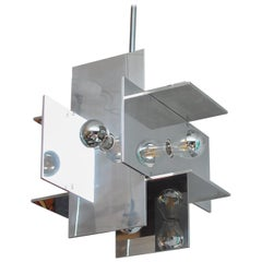 Paul Mayen Polished Aluminum Pendent for Habitat 1970s