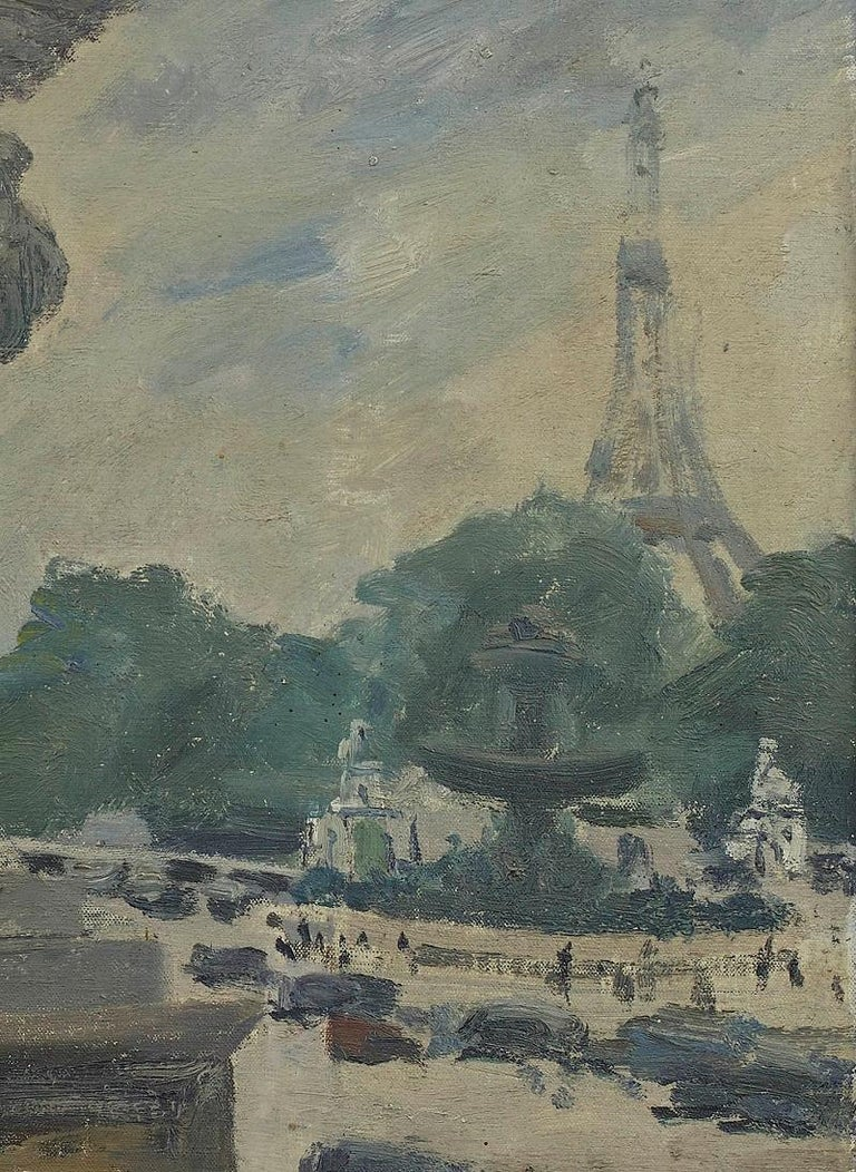 'The Eiffel Tower from the Tuileries' oil painting by Paul Maze DCM MM (1887-1979)  Often called the last of the Impressionists, Maze had a reputation as one of the great artists of his generation. He was born in 1887 into an artistic circle in Le
