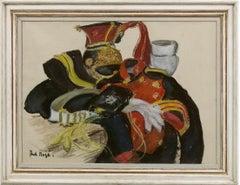 'The Lancer's Uniform Original' Modern British Impressionist pastel painting