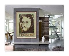 Paul McCarthy Large Original Beatles John Lennon Oil Painting On Canvas Signed