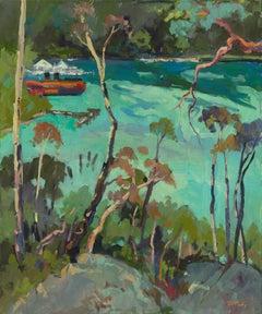 Berrys Bay - Fauvist, Landscape Print by Paul McCarthy, 2018