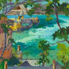 Lavender bay - Fauvist Landscape Print by Paul McCarthy
