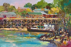 Ship's Dock - Fauvist Landscape Print by Paul McCarthy