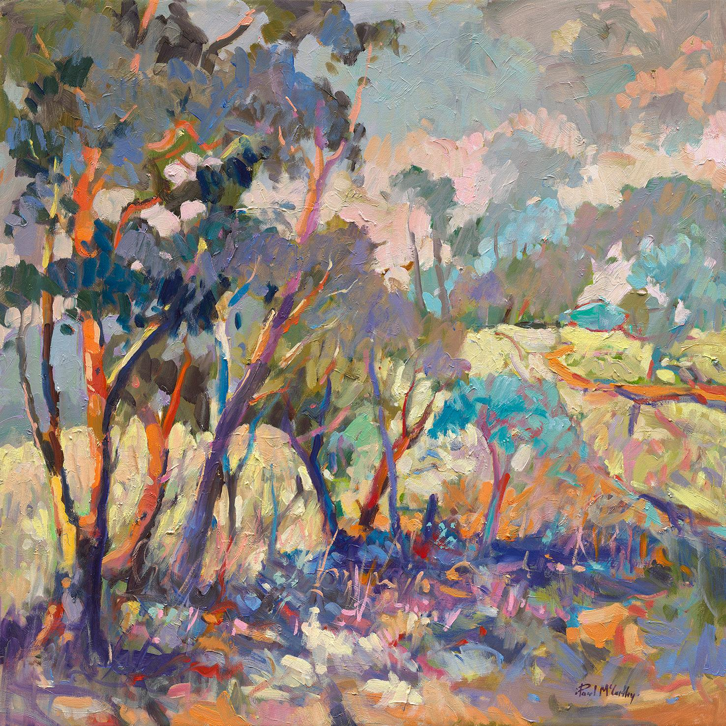 Falling Light in the Hunter - Landscape Painting
