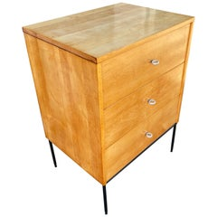 Paul McCobb 3 Drawer Planner Group Cabinet on Metal Base for Winchendon Furn