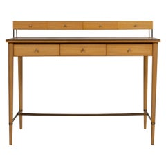 Paul McCobb Brass and Mahogany Connoisseur Collection Writing Desk