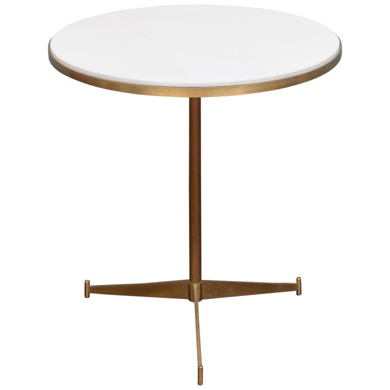 "Paul McCobb Brass ""Cigarette"" Side Table"