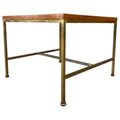 Paul McCobb Brass Frame Side Table for Calvin