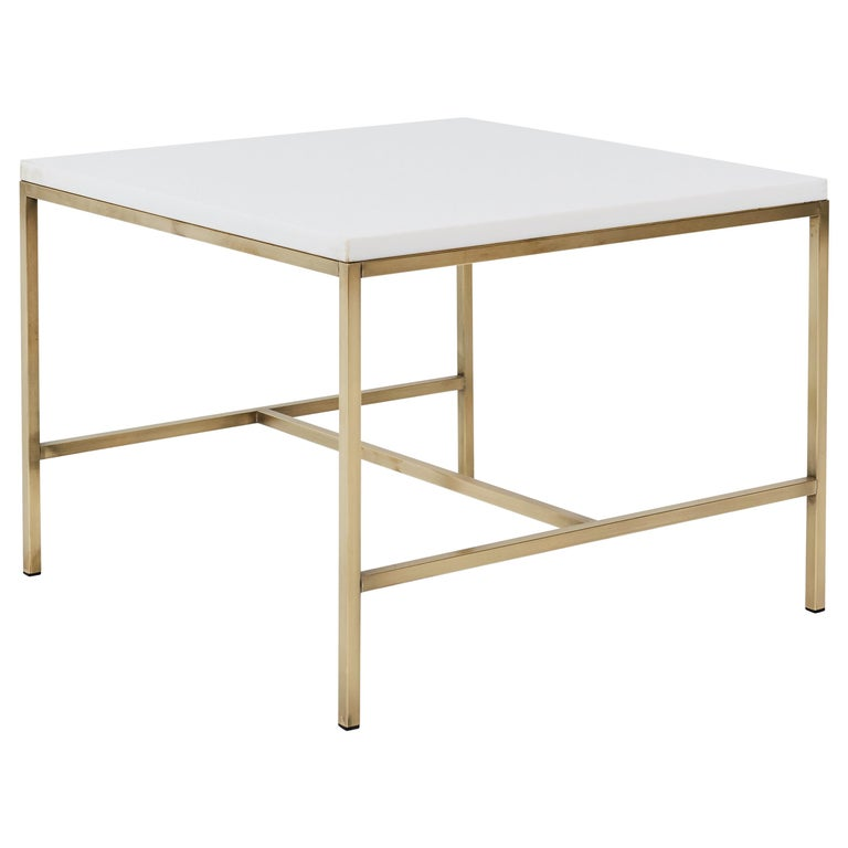 Paul McCobb brass-frame side table, 1950, offered by Modern Drama