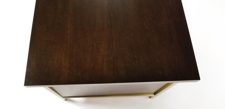 Paul McCobb Brass & Mahogany Desk for the Connoisseur Collection H. Sacks & Sons For Sale 2
