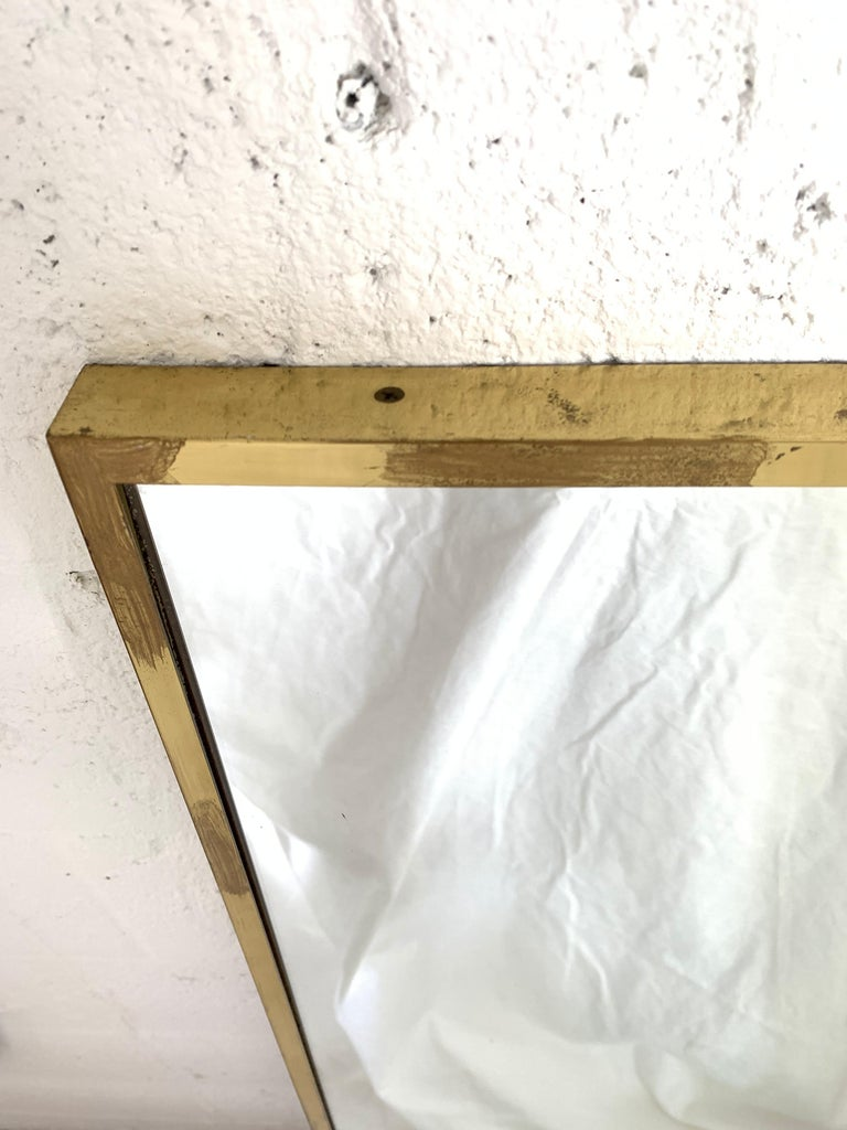 Paul Mccobb Brass Mirror from the Irwin Collection for Calvin, Signed For Sale 4