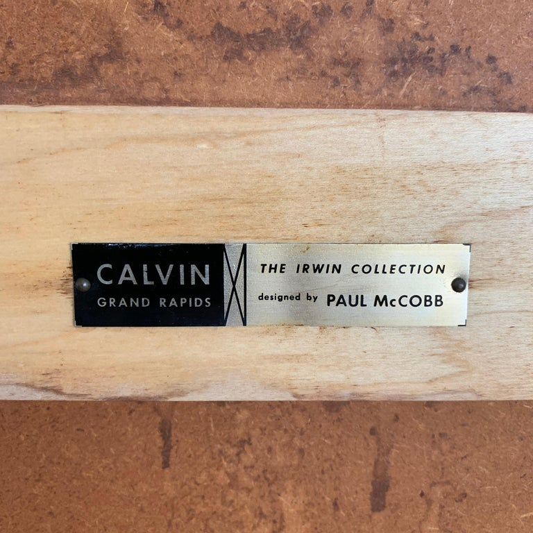 Paul Mccobb Brass Mirror from the Irwin Collection for Calvin, Signed For Sale 2