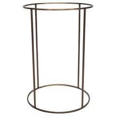 Paul McCobb Brass Round Drum Base Stand Mid-Century Modern, 1960s