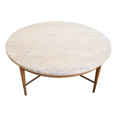 Paul McCobb Connoisseur Round Marble Coffee Table